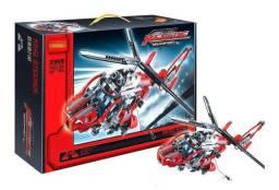 Bloco De Montar Helicóptero De Resgate 407 Pçs