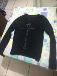Suéter Preto Masculino Calvin Klein (Tamanho P)