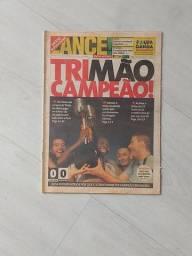 Jornal Lance. Timão Tri Campeão Brasileiro 1999. Completo