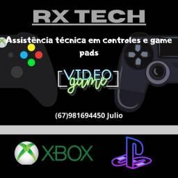 Assistência técnica em controles de vídeo-game