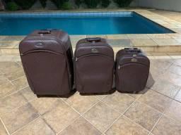 Vendo jogo/conjunto de malas em couro Primícia