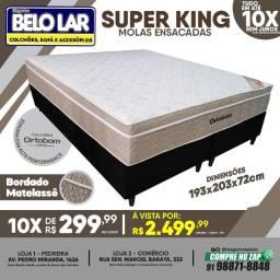 Título do anúncio: Cama box Super King Molas Ensacadas Ortobom
