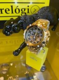 Relógio Venom hybrid skeleton preto novo