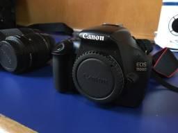 Título do anúncio: Canon EOS 1100D + Lente 18-55 + Lente 75-300mm + Bateria  +sd 32gb