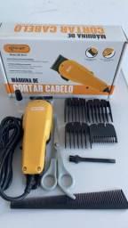 Maquina De Cortar Cabelo Profissional Knup Qr-8918 Amarelo 110v