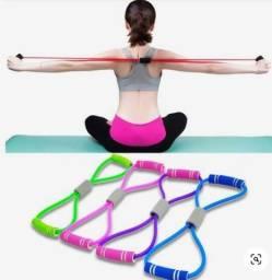 Faixa elástica de resistência para yoga