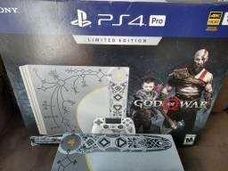 Título do anúncio: PS4 Pro Edição God of WAR / Edição Limitada + Jogos + garantia.