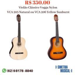 Violão Clássico Vogga Nylon  VCA 203 Natural ou VCA 206 Yellow Sunburst