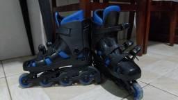 Patins Roller Ajustável Azul (usado)