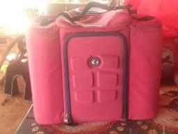 Bolsa térmica six pack rosa