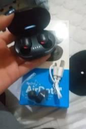 Fone de ouvido sem fio novo na caixa nunca usado