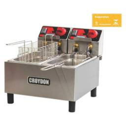 Título do anúncio: Fritadeira Elétrica Industrial 2 Cubas 3 Litros Cada Inox FC1B Croydon