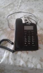 Vendo Telefone com Fio Intelbras TC 60 ID com Identificação de Chamadas e Viva-Voz - Preto