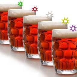 Marcadores identificador de bebidas taças e copos