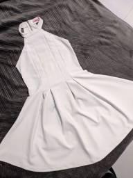 Vestido rodado branco
