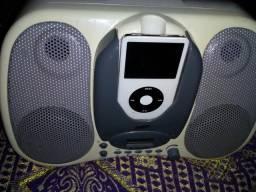 Caixa amplificada com iPod 20gigas