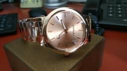 5dcc5595578 Relógio Feminino Rosé Original aço Inoxidável resistente a água