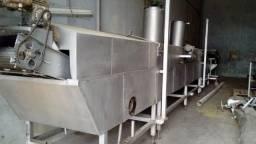 Linha De Fabricação Trigo Com Silo + Secador + Fritador Inox