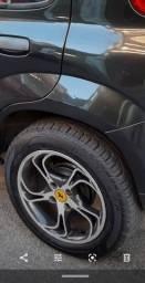 Troco roda aro 15 com pneus por aro 14 com pneus bons