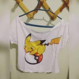 Blusa Crooped Pikachu