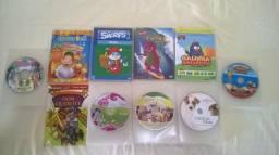 DVDs e CDs diversos