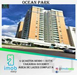 Ocean Park, 4 quartos sendo 1 suíte, Varanda gourmet, Andar alto
