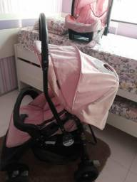 Carrinho de bebê e bebê conforto ra marca burigotto