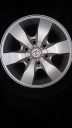 Jogo de rodas aro 16 Toyota Hilux srv 2015