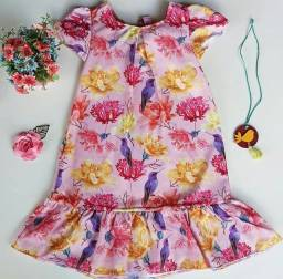 Vestido infantil NOVO + Colar