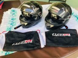 2 capacetes LS2 pouquissimo usada