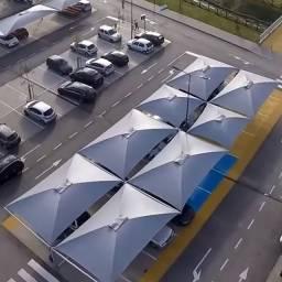 Cobertura Garagem e Sombreadores Estacionamento