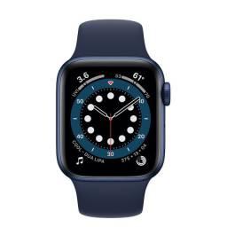 Apple watch séries 6 azul 44mm - lacrado - pronta entrega
