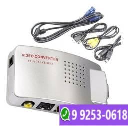 Conversor Adaptador Vga Para Rca E S-vídeo Pc Tv