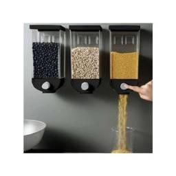 Título do anúncio: 1 Porta Cereais Grãos Alimentos Dispenser Plástico Grão 1500ml novo lacrado