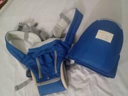 Título do anúncio: Bolsa canguru ergonômico bebê azul mamãe 12 posições 3 em 1<br><br>