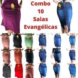 Combo lindas saias evangélica peças de qualidade