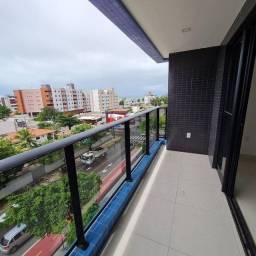 Apartamento em prédio novo, nascente sul, 2 quartos 1 suíte a 100 metros da praia