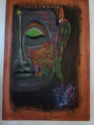 Quadro Psicodelic Buddha 60×40 por Dani Scremin