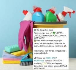 "Título do anúncio: DIARISTA ""VASSOURA MÁGICA"""