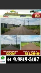 Chacara em Mandaguaçu, liberado para construir, 1.000 entrada