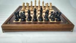 Tabuleiro de xadrez em marchetaria