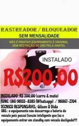 Rastreador & Bloqueador anti furto instalado(ORIGINAL)!!!