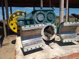 Máquina completa para fabricação de tijolos e telhas
