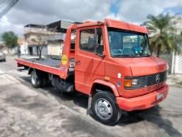 Caminhão prancha mb 710 - 2001