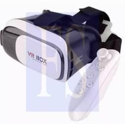 Óculos VR Box realidade virtual com controle