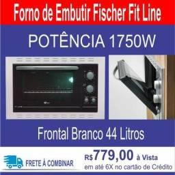 Forno de Embutir Fischer Fit Line Frontal Branco 44 Litros - Fischer