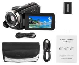 Câmera de vídeo filmadora 4K para YouTube 48MP Ultra HD WiFi Night Vision. Somente venda