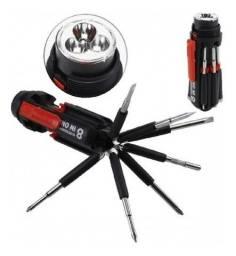 Lanterna Multiuso 8 Em 1 Com Ferramentas Sd-890 Elétrica Aaa