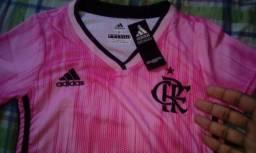 Camisa Baby Look Feminina Do Flamengo 2019 - Rosa