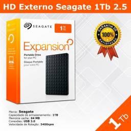 Hd de 1Tb Seagate Externo - Novo - Pronta Entrega